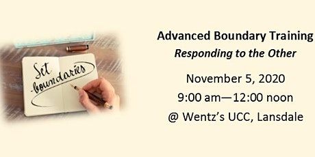 Responding to the Other - Advanced Boundary Training - Nov. 5, 2020 tickets
