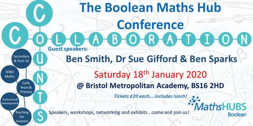 Boolean Maths Hub #CollaborationCounts Conference 2020