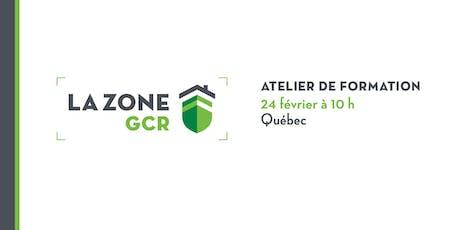 Atelier sur la Zone GCR - Québec tickets