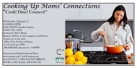 COOKING UP MOMS' CONNECTIONS - 'Cook! Dine! Connect!' tickets