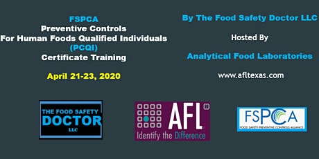 Grand Prairie, Texas: FSPCA Preventive Controls for Human Foods Qualified Individual  (PCQI) tickets