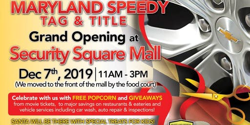 Maryland Speedy Tag & Title Holiday Grand Opening
