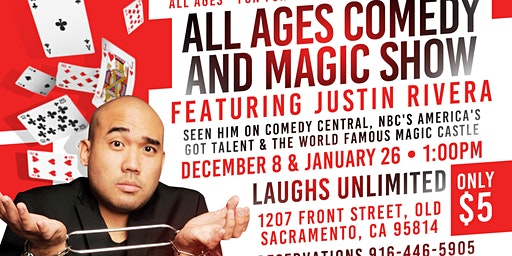 All Ages Comedy & Magic Show with Justin Rivera