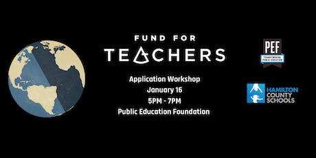 2020 Fund for Teachers Application Workshop tickets