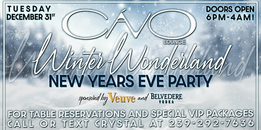 Winter Wonderland NYE at Cavo Lounge