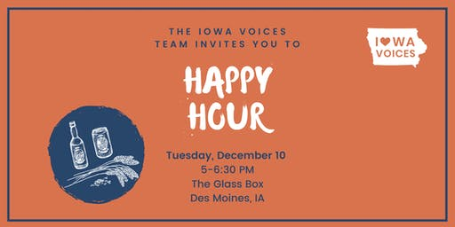 Iowa Voices Happy Hour