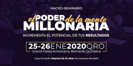El Poder de la Mente Millonaria (Enero- 2020 - Querétaro) boletos