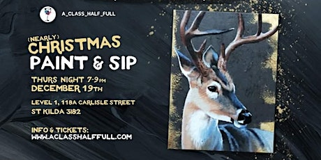"DEC 19th ""Deer"" Paint and Sip Workshop tickets"