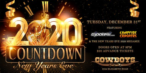 COUNTDOWN: New Years Eve 2020 at Cowboys