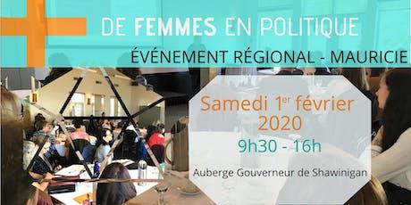 Des municipalités engagées pour plus de femmes en politique - Mauricie billets