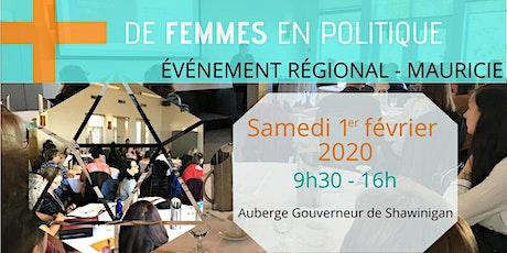 Des municipalités engagées pour plus de femmes en politique - Mauricie tickets