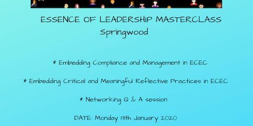 Essence of Leadership Masterclass Springwood