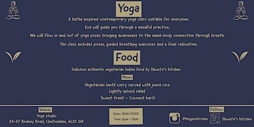 An evening of yoga & vegetarian Indian food