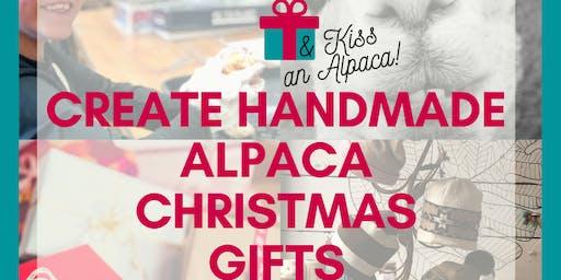 Create a Handmade Felted Holiday Ornament and Kiss an ALPACA!