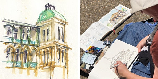 Sketching Sydney: Buildings in Watercolour - 3 day workshop with Liz Steel