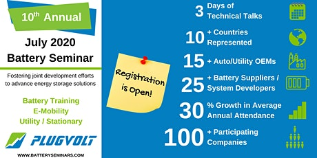 July 2020 Battery Seminar tickets
