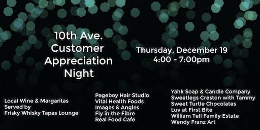 10th Ave. Customer Appreciation Night