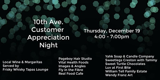 10th Ave. Customer Appreciation Night