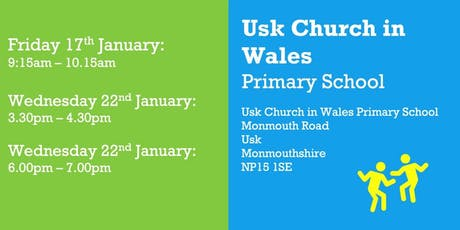Co-constructing our New Curriculum at Usk Primary School tickets