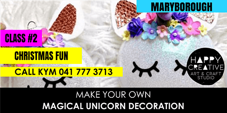 Unicorn Christmas Decorations - PM CLASS tickets