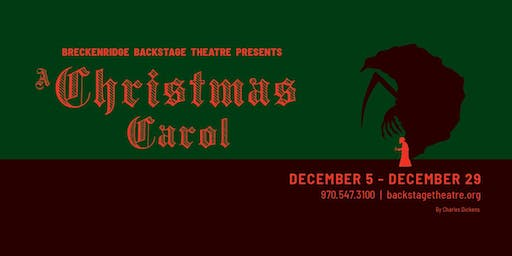 A Christmas Carol - VIP Night Out at the Backstage Theatre