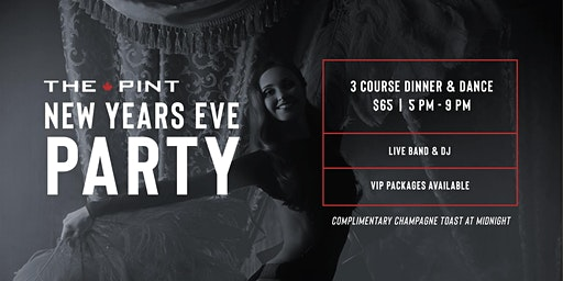 New Years Eve Dinner and Dance at The Pint