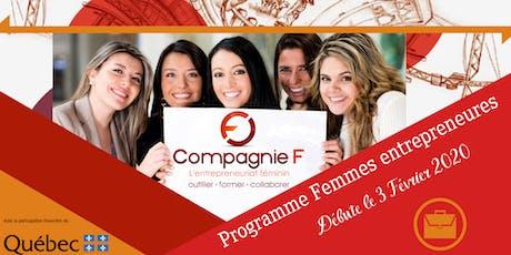 Séances d'informations - Programme Femmes entrepreneures -GROUPE 2 billets