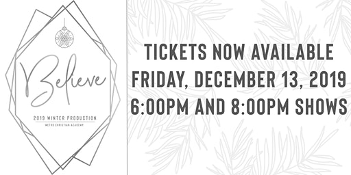 Believe! Metro's Christmas Dessert Theater