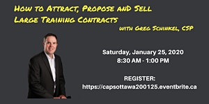 How to Attract, Propose and Sell Large Training...
