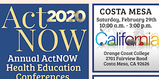 2020 ActNOW OC Health Education Conference