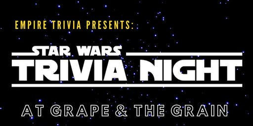 Star Wars Trivia at Grape & The Grain