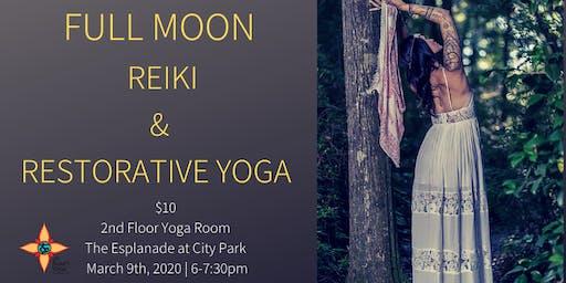 Full Moon Reiki and Restorative Yoga