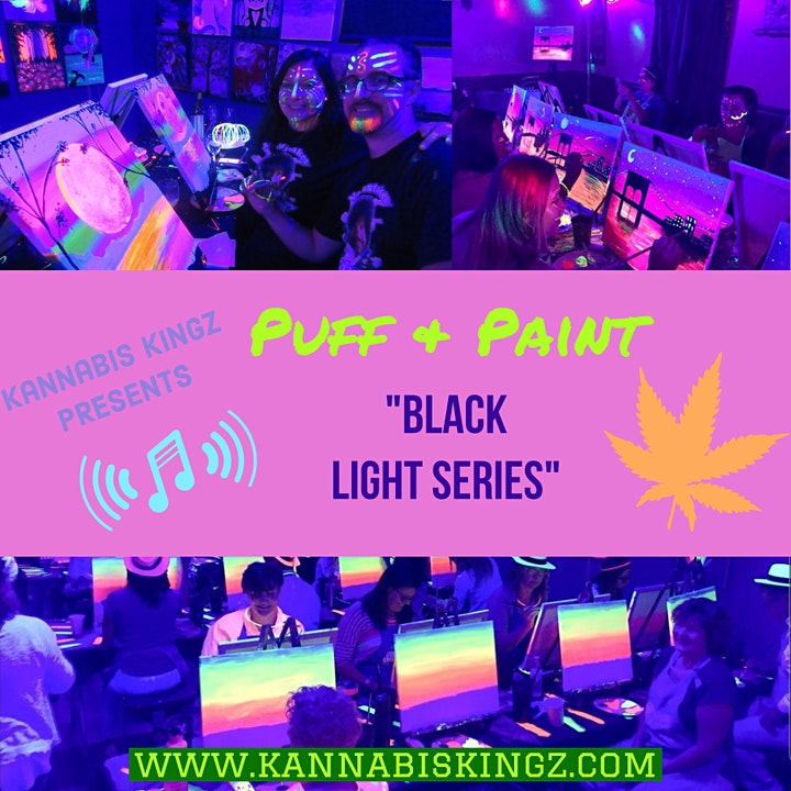 312-Cosmic BlackLight Puff and Paint Session hosted by Kannabis Kingz. image