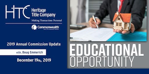 2019 Annual Commission Update    $35 at the door