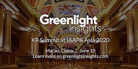 XR Summit at IAAPA Asia 2020 tickets