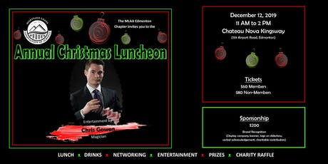 Mortgage Loans Association of Alberta (MLAA)  Christmas luncheon tickets