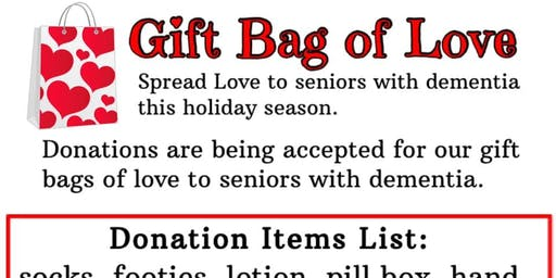 Gift bags of Love Donation for seniors with dementia