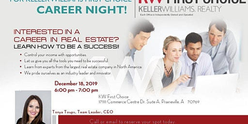 Keller Williams First Choice Career Night