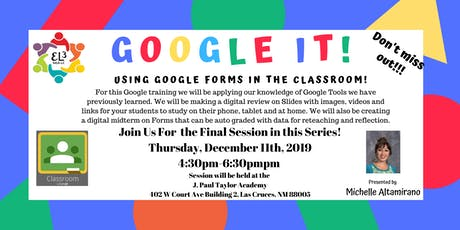 Google Classroom Training: Using Google Forms in the Classroom tickets
