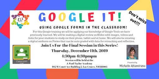 Google Classroom Training: Using Google Forms in the Classroom