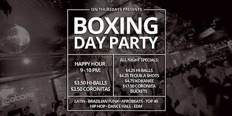ISN Thursdays: Boxing Day Party tickets