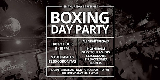 ISN Thursdays: Boxing Day Party