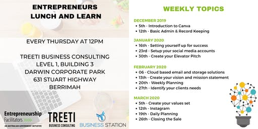 Entrepreneurs Lunch & Learn [Weekly Work Group]