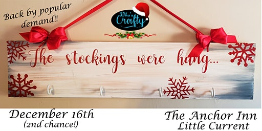 Who's Crafty - Stocking Hanger #2 - The Anchor Inn