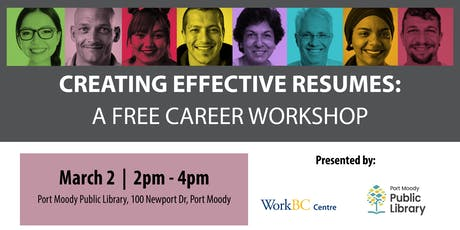 Creating Effective Resumes: A Free Career Workshop (Port Moody) tickets