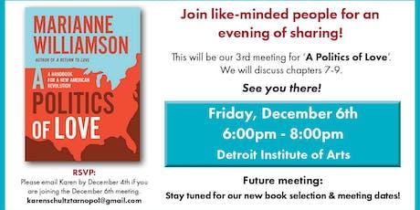 Michigan for Marianne2020 Book Club - A Politics of Love tickets