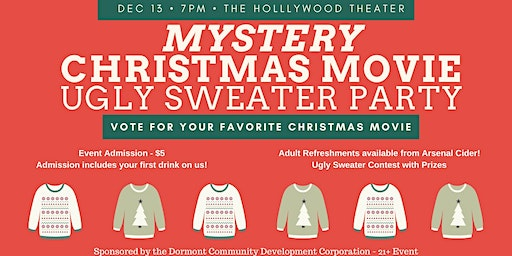 Mystery Christmas Movie Ugly Sweater Party