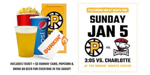 Providence Bruins vs Charlotte Checkers