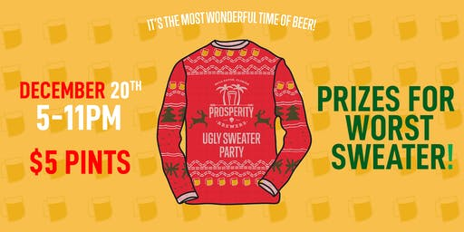 Ugly Sweater Party at Prosperity Brewers