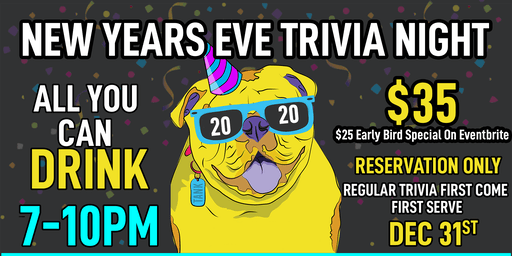 NEW YEARS EVE Trivia Night at Prosperity Brewers